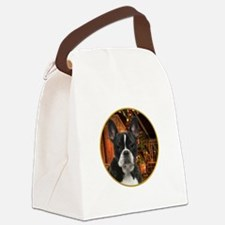 French Bulldog Christmas Canvas Lunch Bag