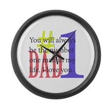 #1 Dad Large Wall Clock