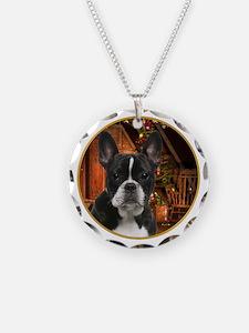 French Bulldog Christmas Necklace