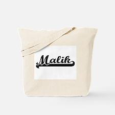 Malik Classic Retro Name Design Tote Bag
