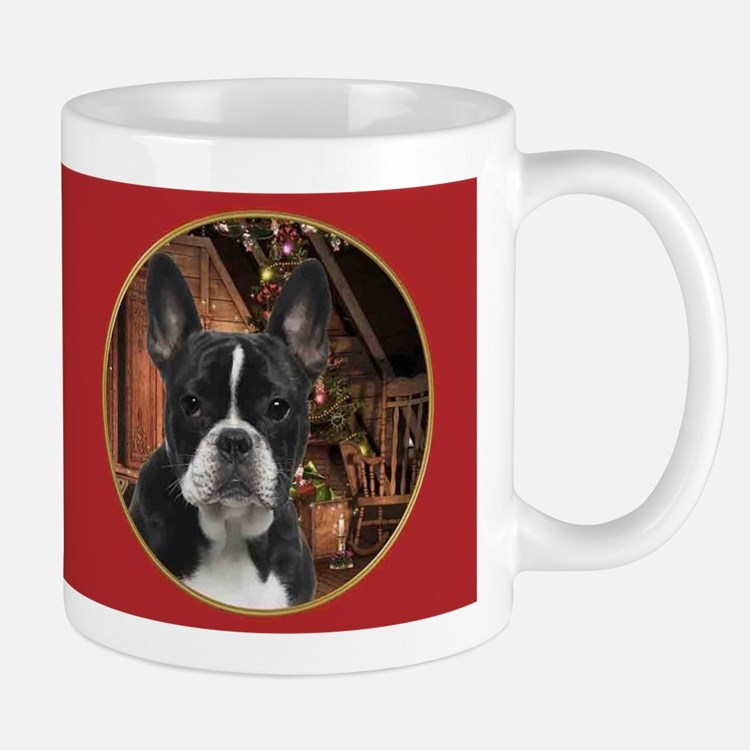 French Bulldog Christmas Mugs