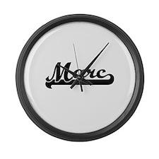 Marc Classic Retro Name Design Large Wall Clock