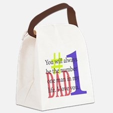 #1 Dad Canvas Lunch Bag
