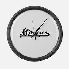 Marcus Classic Retro Name Design Large Wall Clock