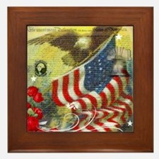 Vintage patriotic theme Framed Tile