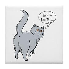 Blue Persian Tail Talk Tile Coaster