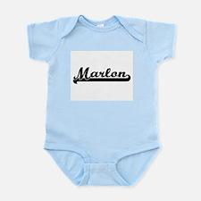 Marlon Classic Retro Name Design Body Suit
