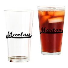 Marlon Classic Retro Name Design Drinking Glass