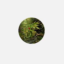 Ruby Birthstone Leaf Drag Mini Button