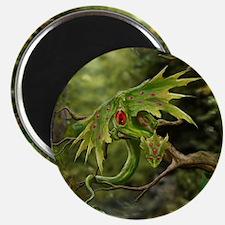 Ruby Birthstone Leaf Drag Magnet