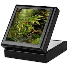 Ruby Birthstone Leaf Drag Keepsake Box