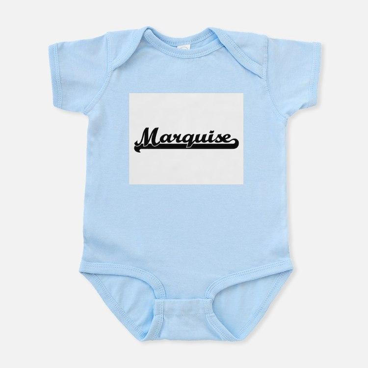 Marquise Classic Retro Name Design Body Suit