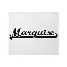 Marquise Classic Retro Name Design Throw Blanket