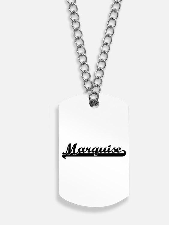 Marquise Classic Retro Name Design Dog Tags