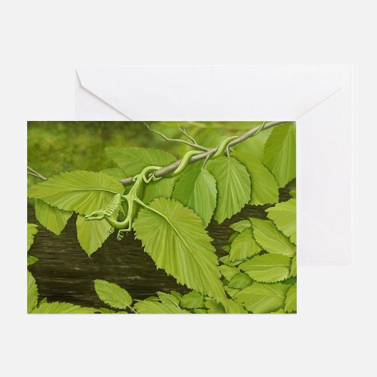 Earth Leaf Dragon Greeting Card