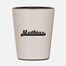 Mathias Classic Retro Name Design Shot Glass
