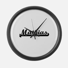 Mathias Classic Retro Name Design Large Wall Clock