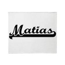 Matias Classic Retro Name Design Throw Blanket