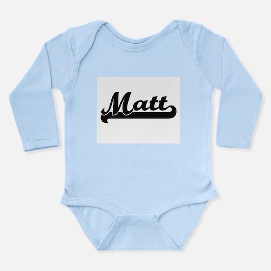 Matt Classic Retro Name Design Body Suit