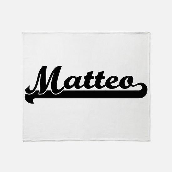 Matteo Classic Retro Name Design Throw Blanket