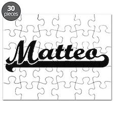 Matteo Classic Retro Name Design Puzzle