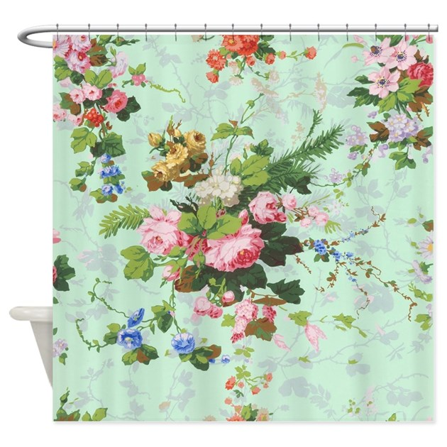 Vintage, Floral, Roses, Antique, Ro Shower Curtain By
