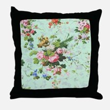 vintage, floral, roses, antique, rose Throw Pillow