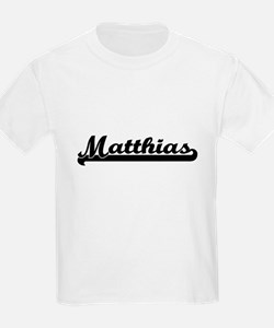 Matthias Classic Retro Name Design T-Shirt
