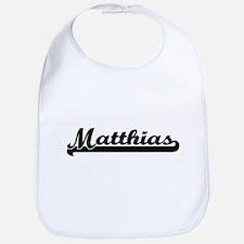 Matthias Classic Retro Name Design Bib