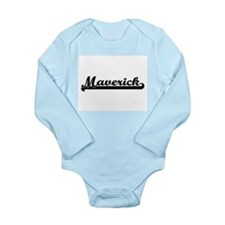 Maverick Classic Retro Name Design Body Suit