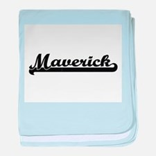 Maverick Classic Retro Name Design baby blanket
