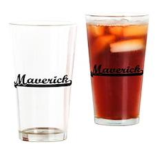 Maverick Classic Retro Name Design Drinking Glass