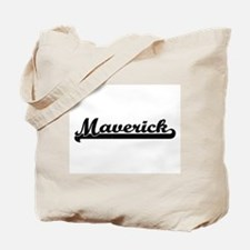 Maverick Classic Retro Name Design Tote Bag