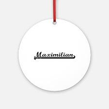 Maximilian Classic Retro Name Des Ornament (Round)