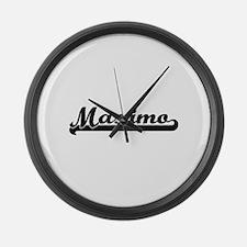 Maximo Classic Retro Name Design Large Wall Clock