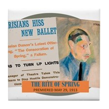 The Rite of Spring Tile Coaster