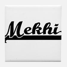 Mekhi Classic Retro Name Design Tile Coaster