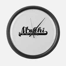 Mekhi Classic Retro Name Design Large Wall Clock