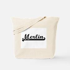 Merlin Classic Retro Name Design Tote Bag