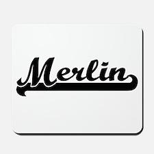 Merlin Classic Retro Name Design Mousepad