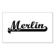 Merlin Classic Retro Name Design Bumper Stickers