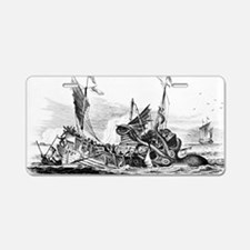 Vintage kraken octopus sea  Aluminum License Plate