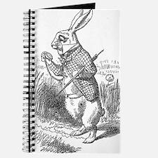 Vintage Alice in Wonderland white rabbit d Journal