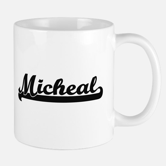 Micheal Classic Retro Name Design Mugs