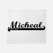 Micheal Classic Retro Name Design Throw Blanket