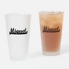 Miguel Classic Retro Name Design Drinking Glass
