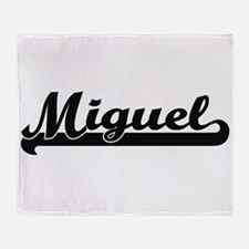 Miguel Classic Retro Name Design Throw Blanket