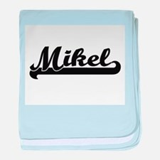 Mikel Classic Retro Name Design baby blanket