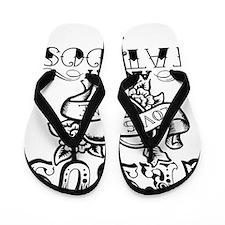 JESUS LOVES ME AND MY TATTOOS Flip Flops