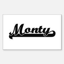 Monty Classic Retro Name Design Bumper Stickers